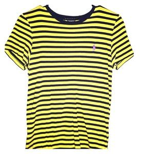 Ralph Lauren blue and yellow striped tee